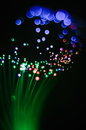 Abstraction of green threads of a fiber optic night-lamp. Royalty Free Stock Photo