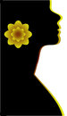 Abstraction WOMAN silhouette black Stock Images