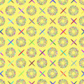 Abstractly seamless pattern made of colorful elements Royalty Free Stock Photo