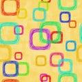 Abstraia o fundo com quadrados Imagens de Stock