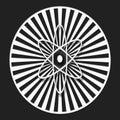 Abstrait radial noir Photo libre de droits