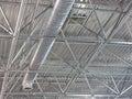Abstrakcjonistyczne współczesne kruszcowe struktury zadasza technologię Obraz Stock