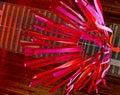 Abstrakcjonistyczny czerwony kani windsock Fotografia Stock