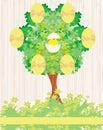 Abstrakcjonistyczny drzewo z wielkanocnymi jajkami Zdjęcia Royalty Free