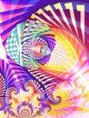 Abstrakt digital konstcollage Royaltyfri Fotografi