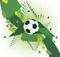 Abstrakt fotbollbakgrund gidirons med bollen Arkivbild