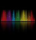 Abstrakt idé för begrepp för musikvolymutjämnare Arkivbilder