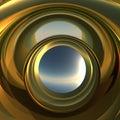 Abstrakt Portal till framtid Royaltyfria Bilder