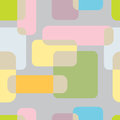 Abstrakt seamless pattern on grey background vector llustration of colored shapes a Stock Images