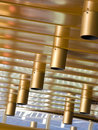Abstrakt taklampor Arkivbild