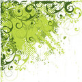 Abstrakt vinkelgreen Arkivfoto