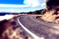 Abstrakt wyginająca się droga travel samochodu pojęcie Zdjęcie Stock