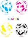 Abstrakte CMYK Kugel Lizenzfreies Stockfoto