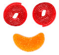 Abstrakte jelly happy face Lizenzfreies Stockfoto
