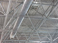 Abstrakte zeitgenössische metallische strukturen die technologie überdachen Stockbild