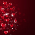 Abstrakter valentine red background Stockfoto