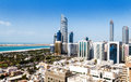 Abu dhabi city view of united arab emirates by day Stock Photography