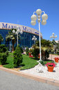 Abu dhabi marina mall shopping center entrance a large on march in uae is dhabis premium and Royalty Free Stock Photos