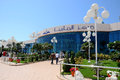 Abu dhabi marina mall shopping center entrance a large on march in uae is dhabis premium and Stock Photography