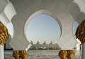 Abu dhabi sheikh zayed white mosque in uae Royalty Free Stock Photography