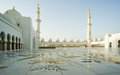 Abu dhabi sheikh zayed white mosque in uae Royalty Free Stock Photos