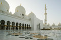 Abu dhabi sheikh zayed white mosque in uae Royalty Free Stock Photo