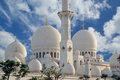 Abu dhabi sheikh zayed white mosque in uae Royalty Free Stock Image