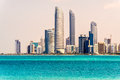Abu dhabi skyline uae united arab emirates Royalty Free Stock Image