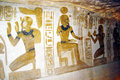 Abu simbel art the paintings inside the temple of Stock Photography