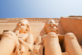 Abu simbel egypt as ancient s cathedral is made up of two large stone blocks there is a statue of the pharaoh four Stock Photos
