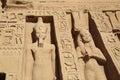 Abu Simbel temple Royalty Free Stock Photo