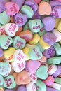 Abundance of sweet love messages on Valentines day. Royalty Free Stock Photo