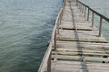 Abundance wooden jetty Stock Photo
