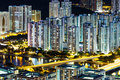 Abundant cityscape at night skyline Royalty Free Stock Photography