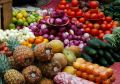 Abundant Fruits And Vegetables Royalty Free Stock Photo