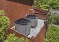 Ac heater unit high efficiency modern energy save solution horizontal Stock Photography