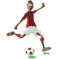 Ac milan soccer player illustration of who hits the ball Royalty Free Stock Images