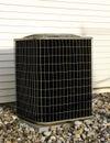 Ac odżywka air chłodzenia domu na jednostkę pompy Obrazy Royalty Free