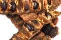 Acacia concinna pods x soap pods x medicinal herbs Royalty Free Stock Photo