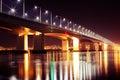 Academic Bridge winter in Irkutsk Royalty Free Stock Photo