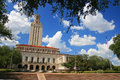 Academic building dome of university of texas austin jul ut against blue sky in austin on july ut founded in has the Stock Photography