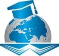Academic Cap on the Globe