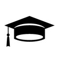 Academic graduation cap icon Royalty Free Stock Photo