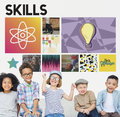 Academic knowledge learning literacy graphic concept Stock Image