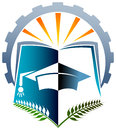 Academic logo illustrated design against white background Stock Photography