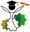 Academic logo Royalty Free Stock Photo