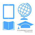 Academical icons set illustration Stock Photo