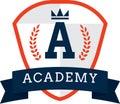 academy logo element. Vector illustration decorative design Royalty Free Stock Photo