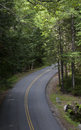 Acadia national park – september a modern road winds through the forests of Stock Photo