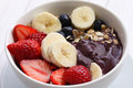"Acai bowl ""acai bowl"" are popular in brazil hawaii and baja california Stock Image"